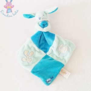 Doudou Lapin bleu mouchoir poisson luminescent BABY NAT