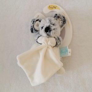 Doudou Souris gris chiné mouchoir blanc BABY NAT