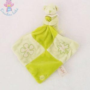 Doudou Ours vert mouchoir vert BABY NAT