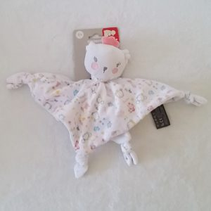 Doudou plat Koala Ours blanc couronne rose ORCHESTRA