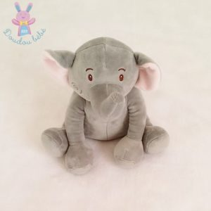 Doudou éléphant assis gris rose Bébé Confort