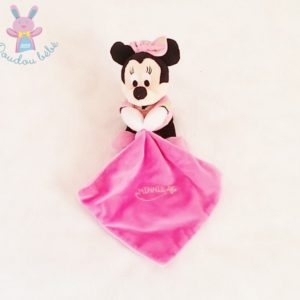 Doudou Souris Minnie luminescent rose noir mouchoir DISNEY