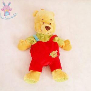 Doudou Ours Winnie l'ourson range-pyjama rouge jaune 53 cm DISNEY