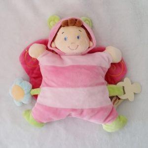 Doudou Poupée déguisée en papillon rose NICOTOY