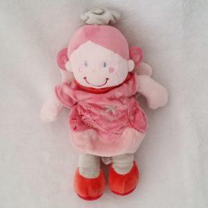 Doudou poupée Lutin rose ailes NICOTOY KIABI