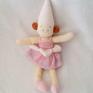 Doudou Poupée Fée rose et beige 40 cm NICOTOY KIABI