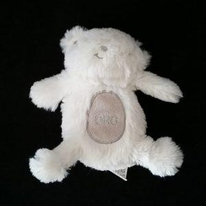 Doudou Ours blanc et gris ORC 17 cm ORCHESTRA