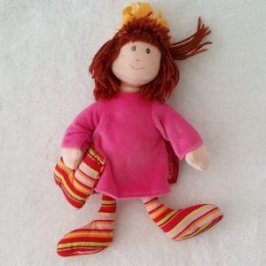 Doudou Poupée Princesse chiffon rose et rayé ORCHESTRA