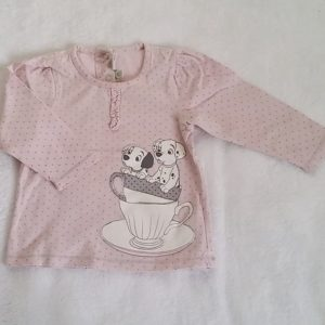 T-shirt rose Dalmatiens bébé fille 18 MOIS DISNEY