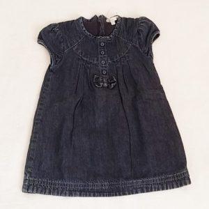 Robe jean bleu doublé bébé fille 18 MOIS