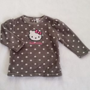 Sweat polaire gris bébé fille 18 MOIS HELLO KITTY