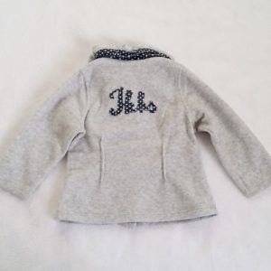 Gilet polaire gris bébé fille 18 MOIS IKKS