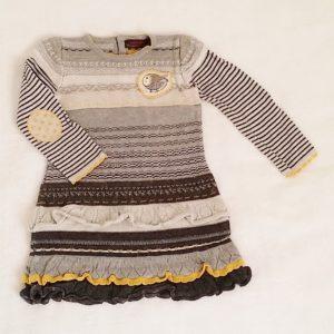 Robe à volants gris jaune argenté bébé fille 18 MOIS CATIMINI