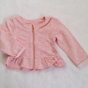 Gilet zippé rose bébé fille 18 MOIS ORCHESTRA