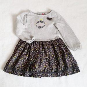 Robe grise et fantaisie bébé fille 18 MOIS ORCHESTRA