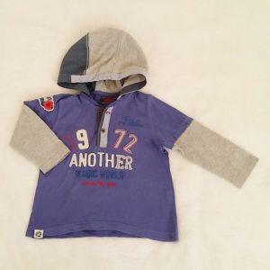 T-shirt à capuche violet et gris bébé garçon 18 MOIS CATIMINI