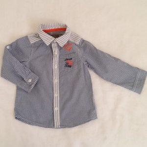 Chemise vichy bleu blanc bébé garçon 18 MOIS ORCHESTRA
