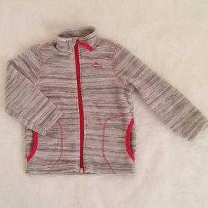 Sweat zippé polaire gris bébé fille 24 MOIS QUECHUA