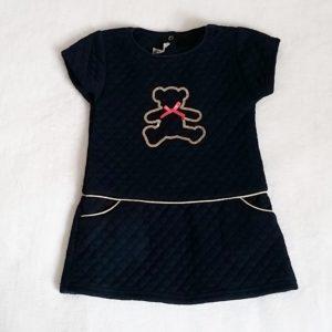 Robe matelassée bleu marine strass bébé fille 24 MOIS LULU CASTAGNETTE