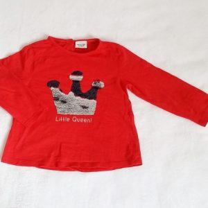 T-shirt rouge couronne strass bébé fille 24 MOIS TAPE A L'OEIL