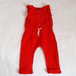 Combinaison rouge sans manches bébé fille 24 MOIS KIABI