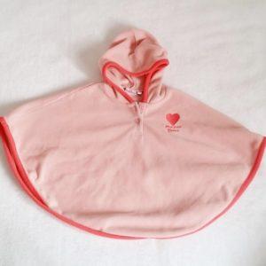Cape polaire à capuche rose bébé fille 24 MOIS POMMETTE