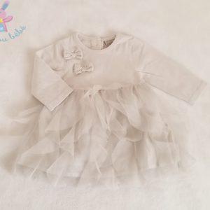 Robe grise et tulle bébé fille 3 MOIS GRAIN DE BLE
