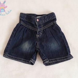 Short jean bleu bébé fille 3 MOIS VERTBAUDET