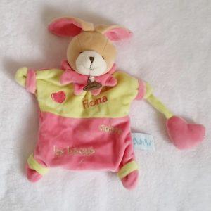 Doudou marionnette Lapin «Fiona adore les bisous» BABY NAT