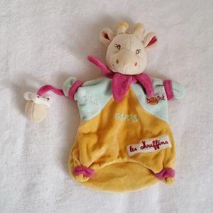 Doudou marionnette Girafe Cali muffins BABY NAT