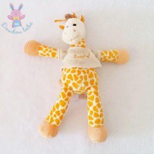 Doudou Girafe orange pull beige 27 cm BABY NAT