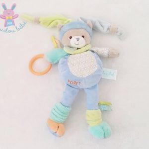 Doudou Ours Nino bleu jouet éveil bébé BABY NAT
