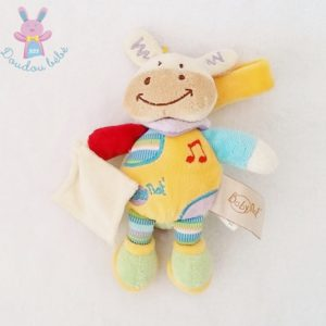 Doudou Cheval coloré musical mouchoir BABY NAT