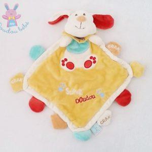 Doudou plat Chien jaune Super Doudou BABY NAT