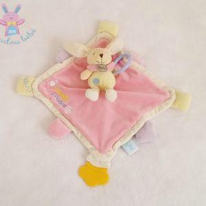 Super doudou plat Lapin rose jouet BABY NAT