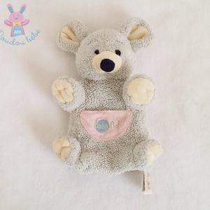 Doudou marionnette Souris gris rose BABY NAT