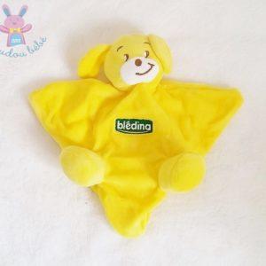 Doudou plat Chien marionnette jaune BLEDINA