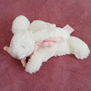 Lapin bonbon blanc rose Mon tout petit DOUDOU ET COMPAGNIE