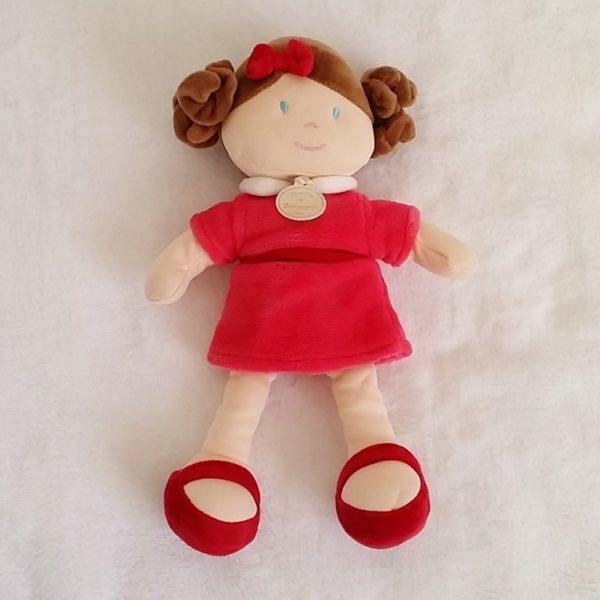 Poupée demoiselle Framboise robe rouge DOUDOU ET COMPAGNIE