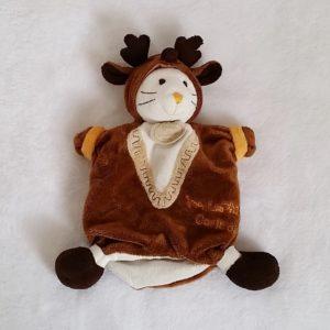 Doudou marionnette Mon Lapin Caribou marron Doudou et Compagnie