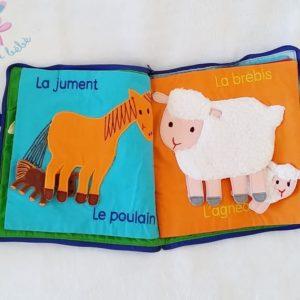 Livre tissu Les bébés animaux éveil bébé LILLIPUTIENS