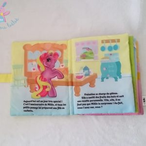 Livre tissu bébé Mon petit poney HASBRO