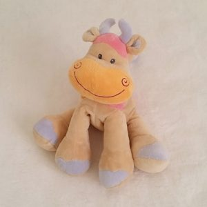 Doudou Vache beige rose orange 26 cm NATTOU