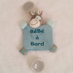 Signalétique «bébé à bord» Ane Cheval Cyril & Gaston bleu gris NATTOU