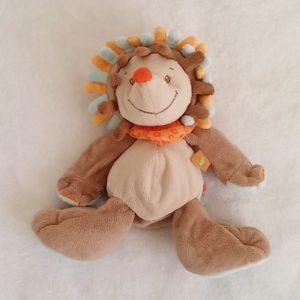Doudou Hérisson marron bleu orange 25 cm NATTOU