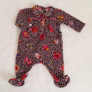 Pyjama velours fantaisie bébé fille 3 MOIS CATIMINI