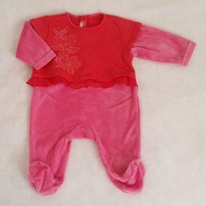 Pyjama rose rouge bébé fille 3 MOIS MARESE