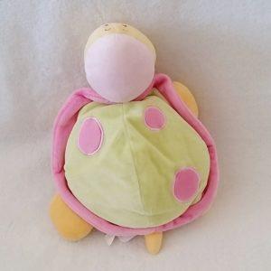 Doudou Tortue rose vert jaune TEX