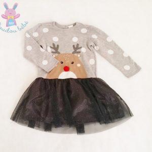 Robe grise tulle renne Noël bébé fille 24 MOIS H&M