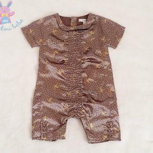 Combinaison satinée marron dorée bébé fille 3 MOIS